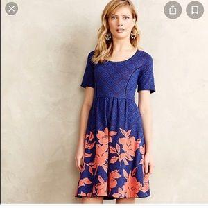 Anthropologie blushed blooms dress